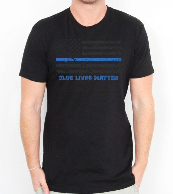 Blue Lives Matter American Flag