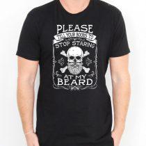Stop Staring At My Beard Men's T-shirts