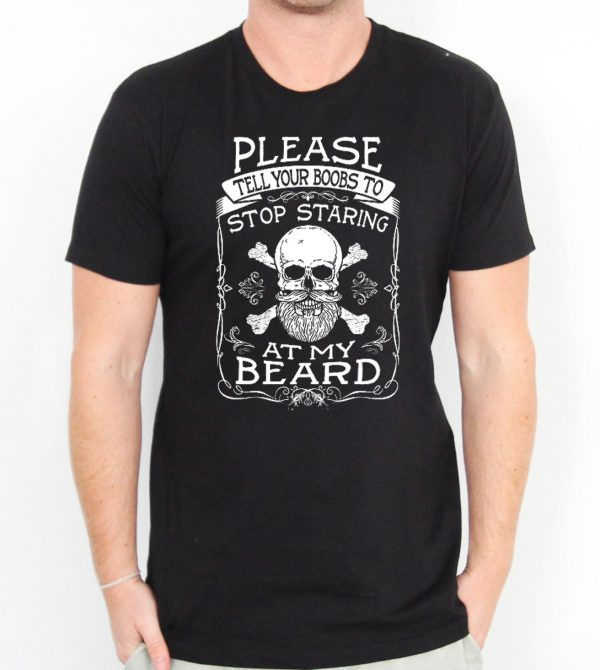 Stop Staring At My Beard Men's T-shirts