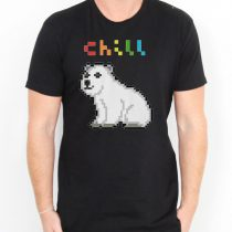Chill Polar Bear Men's T-shirts S, M, L, XL, 2XL, 3XL