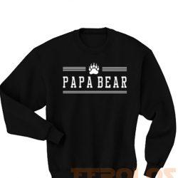 Papa Bear Paw Sweatshirts