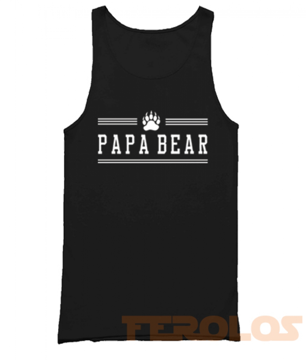Papa Bear Paw Mens Womens Adult Tank Tops