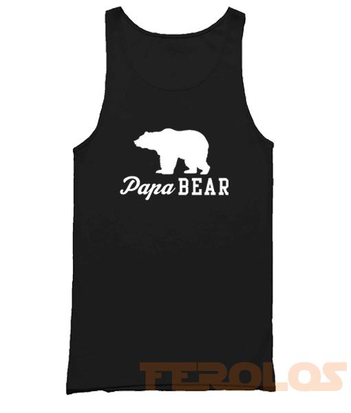 Papa Bear Mens Womens Adult Tank Tops