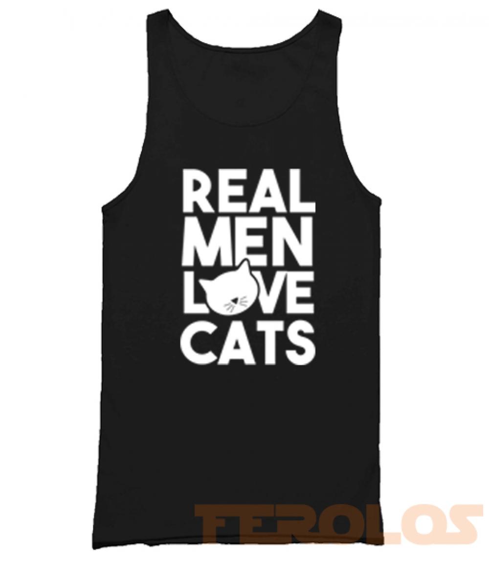 Real Men Love Cat Mens Womens Adult Tank Tops