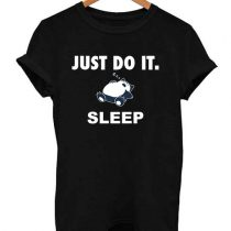 Funny Just Do it Snorlax Sleep Pokemon Parody T Shirt