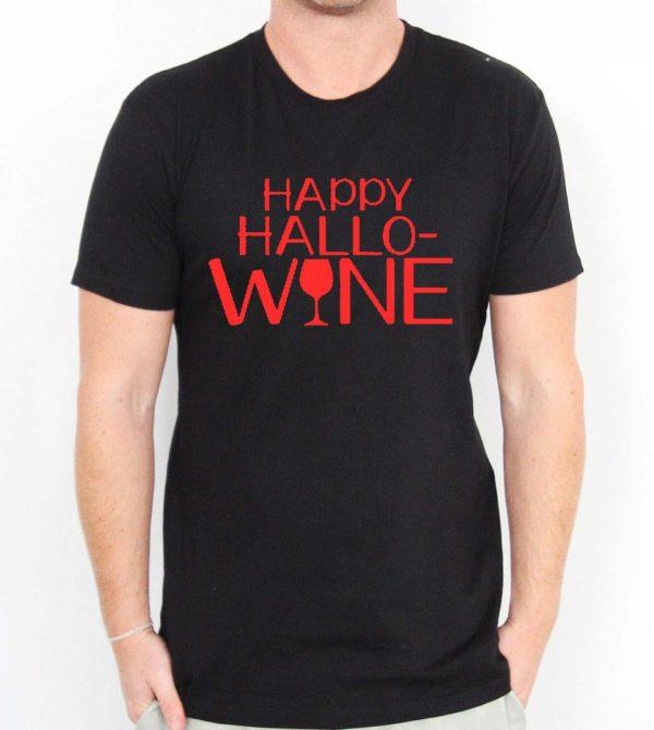 Happy Hallo Wine Mens Womens Adult T-shirts