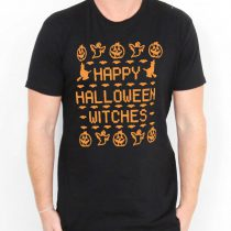 Happy Halloween Witches Mens Womens Adult T-shirts