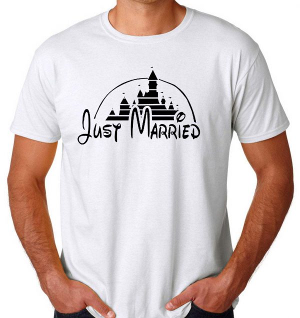 Just Married castle Mens Womens Adult T-shirts