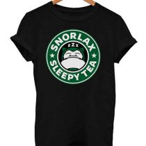 Parody Pokemon Snorlax Sleepy Tea Funny T Shirt