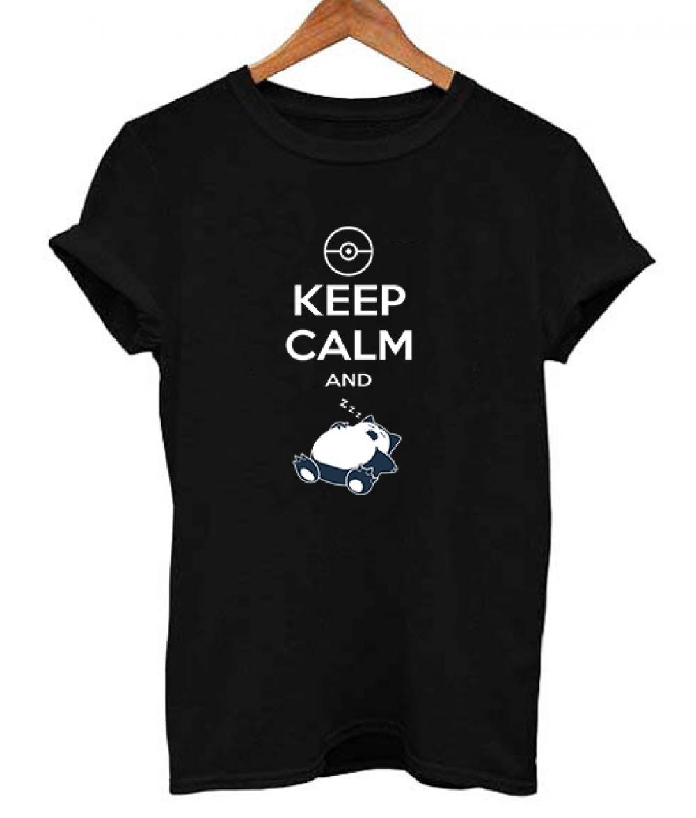 Snorlax Pokemon Keep Calm and Sleep T Shirt