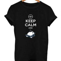 Snorlax Pokemon Keep Calm and Sleep T Shirt