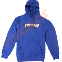 Thrasher og Magazine Adult Hoodies Royal Blue Pull Over