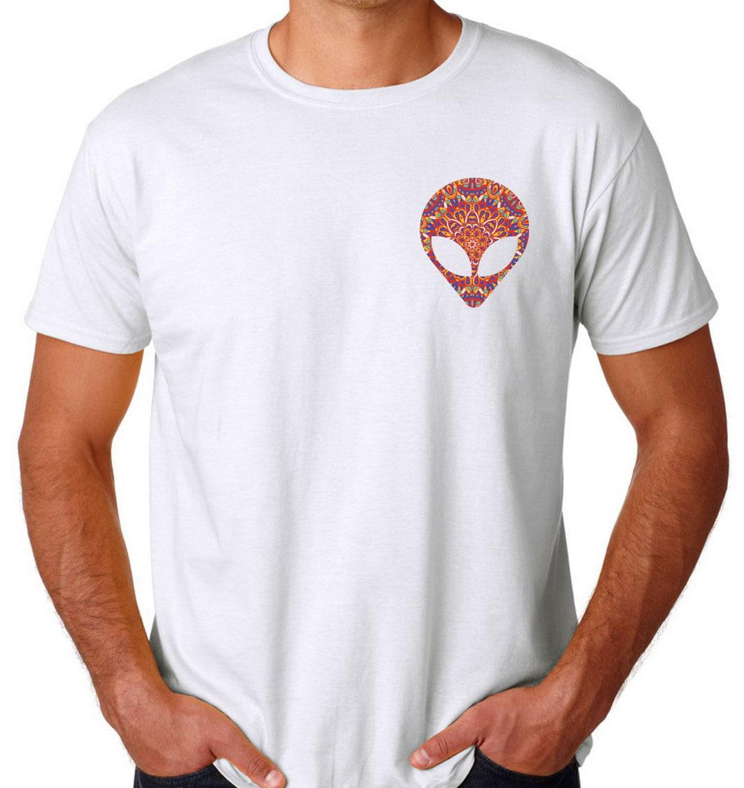 alien face mandala Mens Womens Adult T-shirts