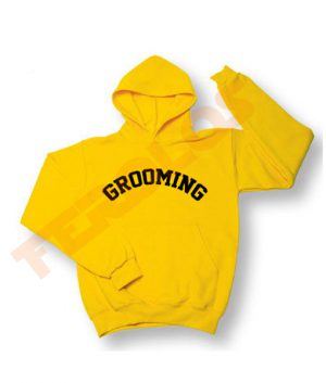 Grooming Baseball Style Yellow Hoodies Pull Over