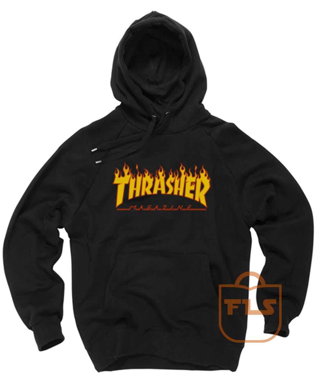 9aff1288780f Thrasher Magazine Fire Unisex Pullover Hoodies - Ferolos.com