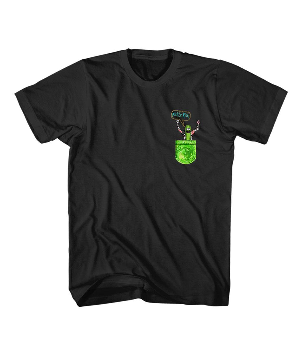 Buy Pickle Rick Pocket Cheap T Shirt - Tee Shirts