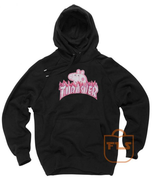 Peppa Pig Thrasher Funny Unisex Pullover Hoodies
