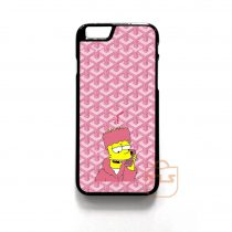 Bart Simpson Goyard iPhone Cases