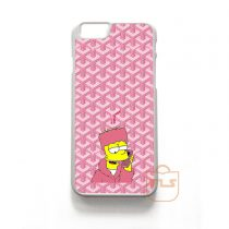 Goyard Bart Simpson iPhone Cases