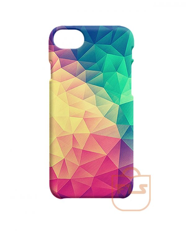 Abstract Polygon Multi Color Cubism Low Poly Triangle iPhone Cases