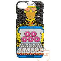 Homer with Black Goyard iPhone X Case