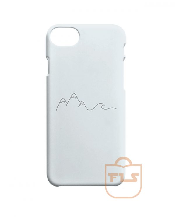 Simple Mountain Wave iPhone Cases