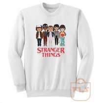 Angry Cartoon Face Stranger Things Sweatshirt