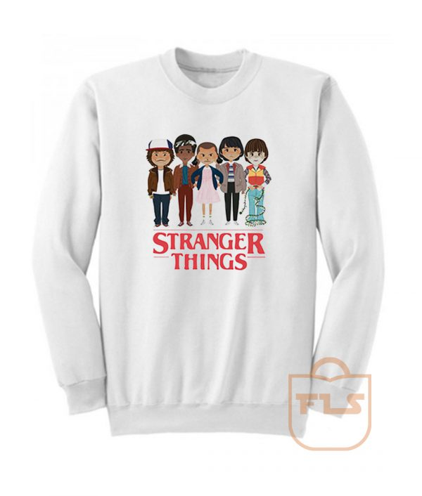 Angry Cartoon Face Stranger Things Sweatshirt
