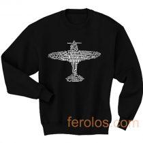 Aviation Alphabet Airplane Sweatshirt