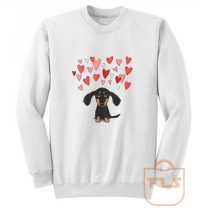Cute Dachshund Puppy Love Sweatshirt