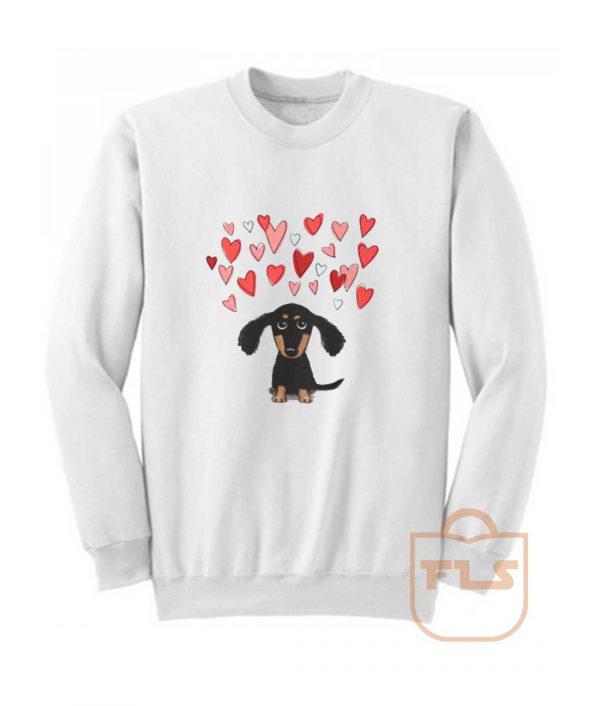 Cute Dachshund Puppy Love Sweatshirt