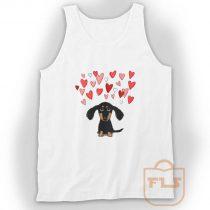 Cute Dachshund Puppy Love Tank Top
