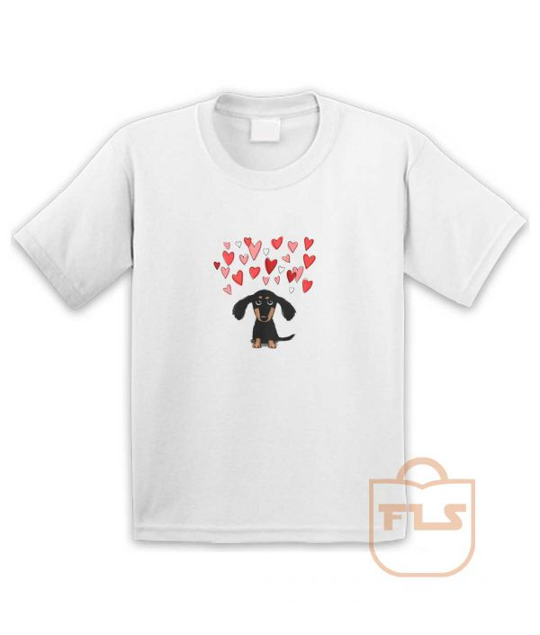 Cute Dachshund Puppy Love Youth T Shirt