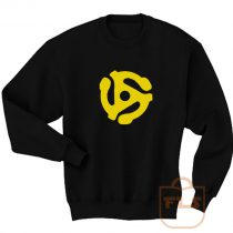 DJ 45 RPM ADAPTER Spider Record Sweatshirt Men Women