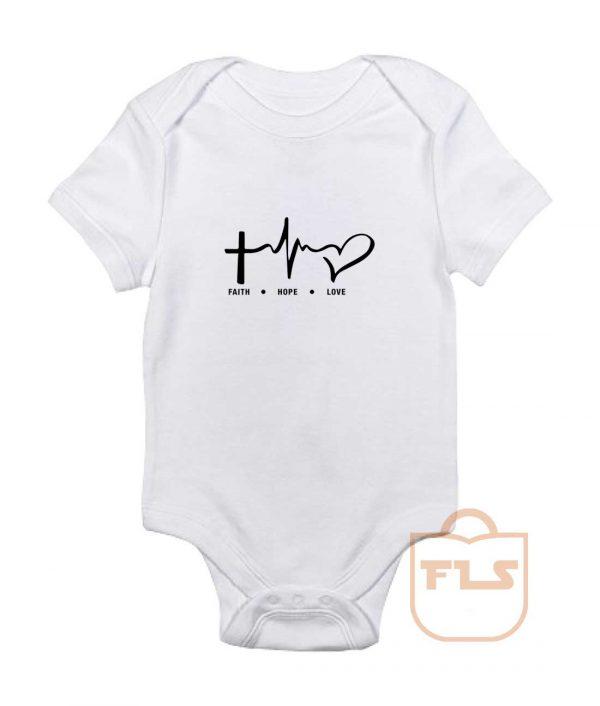 Faith Hope Love Baby Onesie