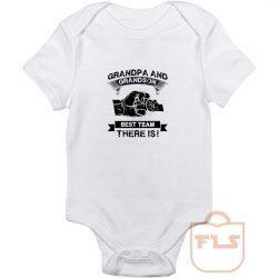 Grandpa Grandson Best Team Baby Onesie