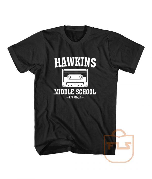 Hawkins Middle School AV Club T Shirt Men Women