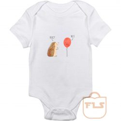 Impossible Love Hedgehog Ballon Baby Onesie