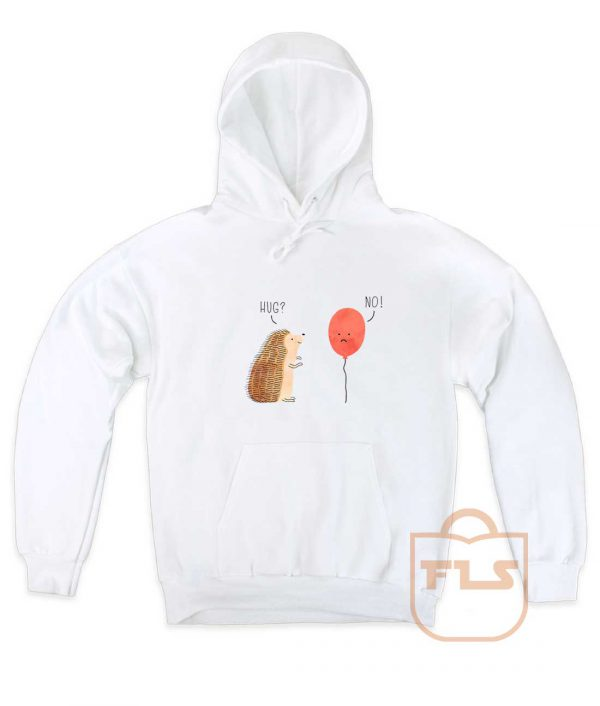 Impossible Love Hedgehog Ballon Pullover Hoodie