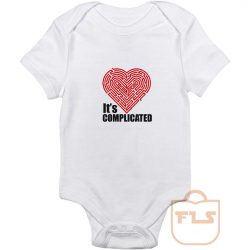 Its Complicated Heart Baby Onesie