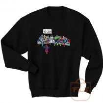 Jesus and Superheroes Sweatshirt