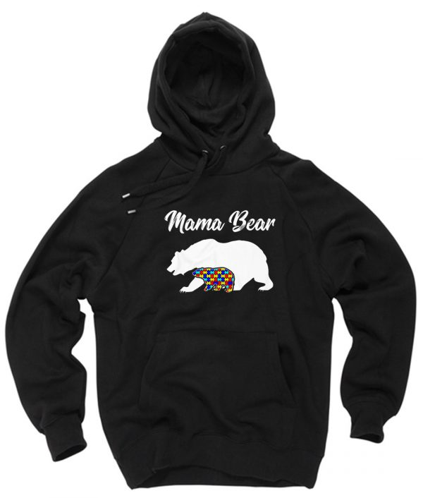 Mama Bear Autism GIft Pullover Hoodie