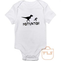 Motivation Dinosaur Parody Baby Onesie