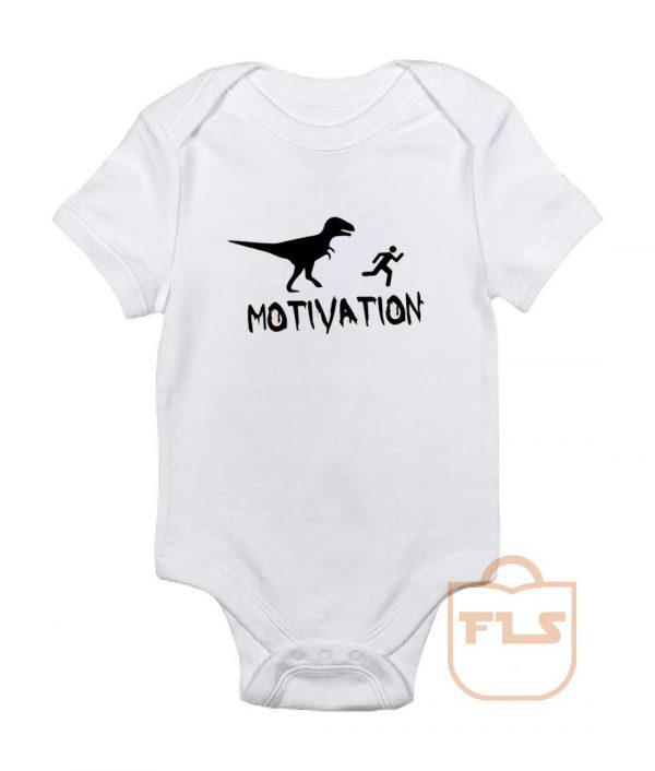 Motivation Dinosaur Parody Baby Onesie