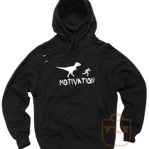 Motivation Dinosaur Parody Pullover Hoodie