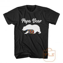 Papa Bear Autism Dad Gift T Shirt