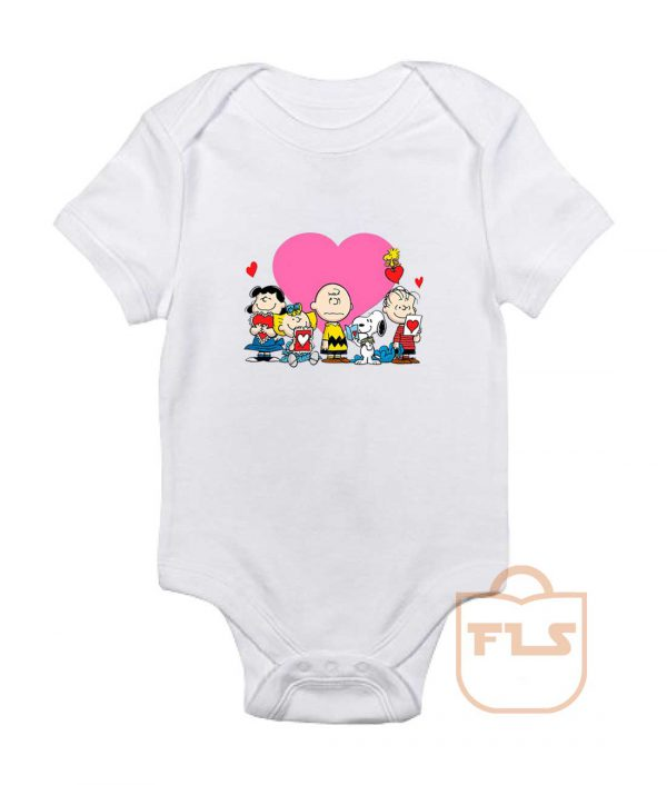 Peanuts Valentine Day Edition Baby Onesie
