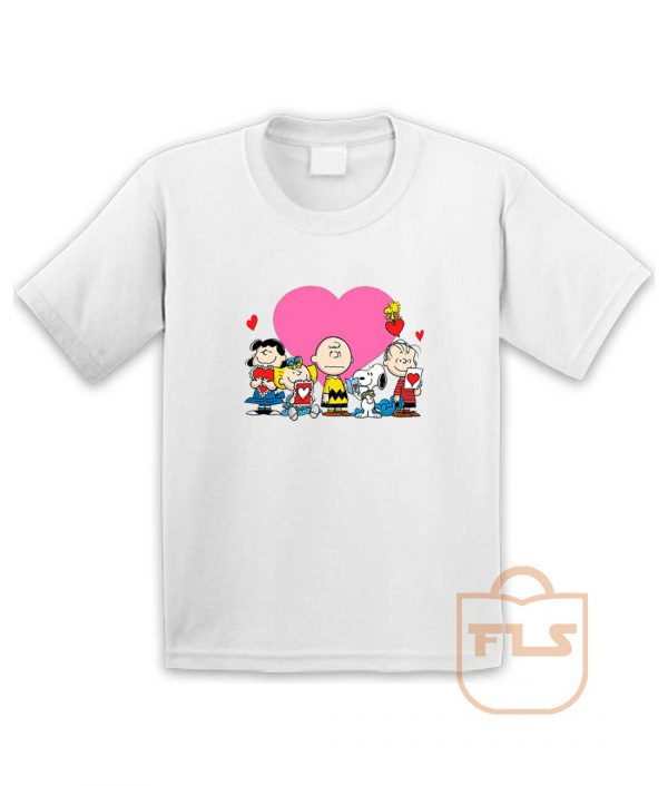 Peanuts Valentine Day Edition Youth T Shirt