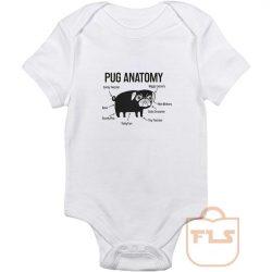 Pug Anatomy Baby Onesie