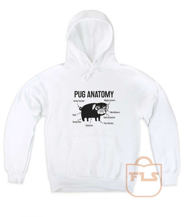 Pug Anatomy Pullover Hoodie